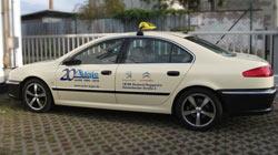Beispiel einer Werbung am Taxi